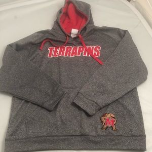 Maryland Terrapins Gray/red performance hoodie